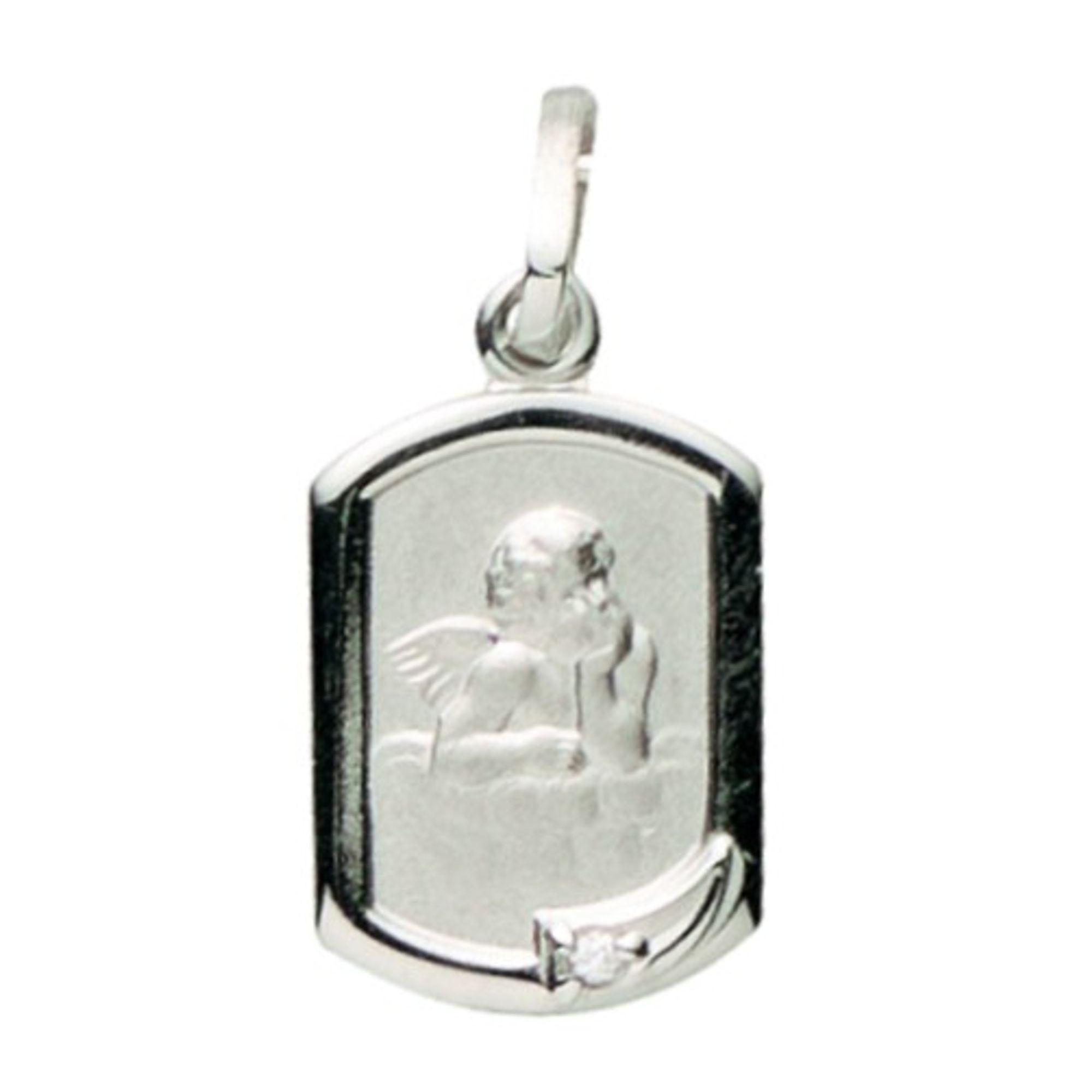 Basic Silber 22.226 Kinder Anhänger Schutzengel Silber Zirkonia weiß