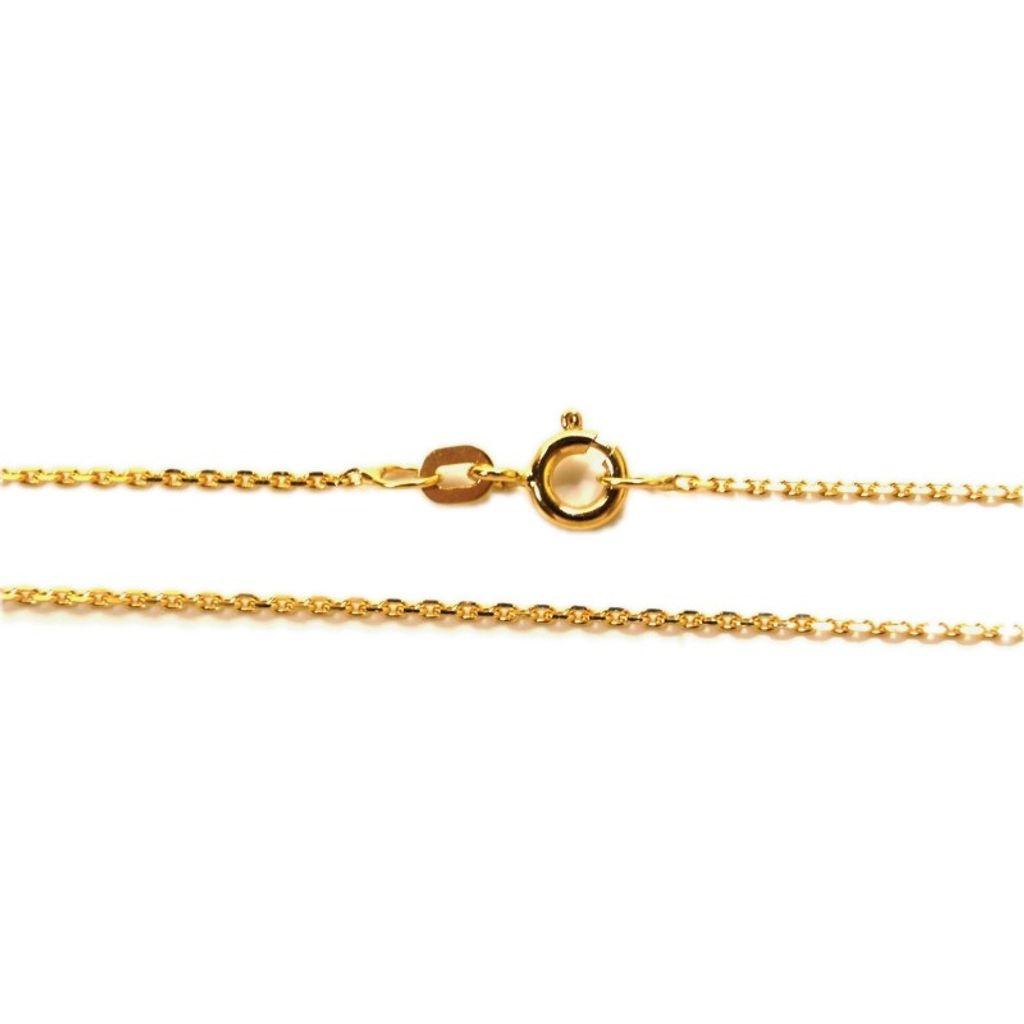 Basic Gold Unisex-Erwachsene Anker Kette 14 Karat (585) Gelbgold 42 cm