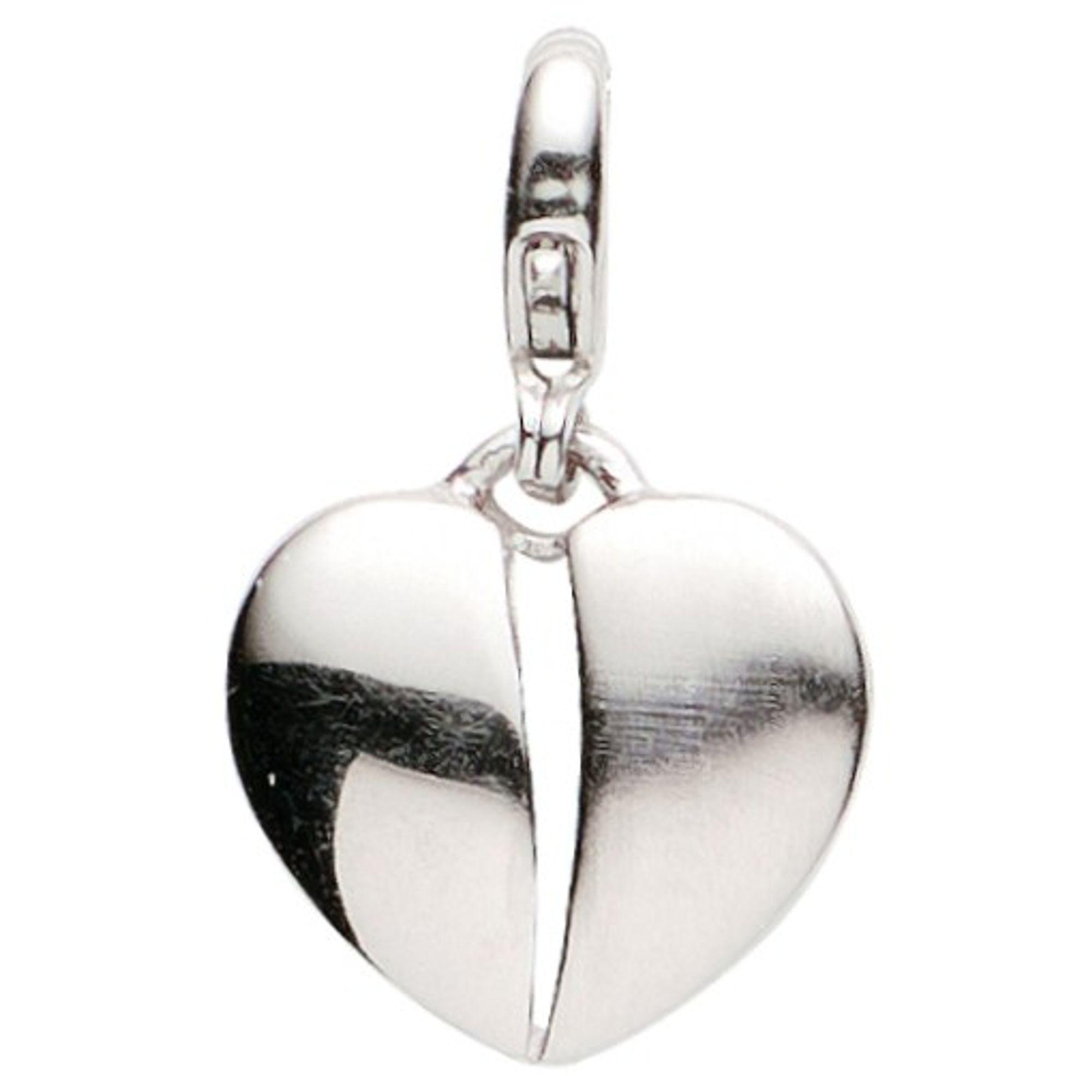 Basic Silber 22.VX431 Damen Charms Herz Silber