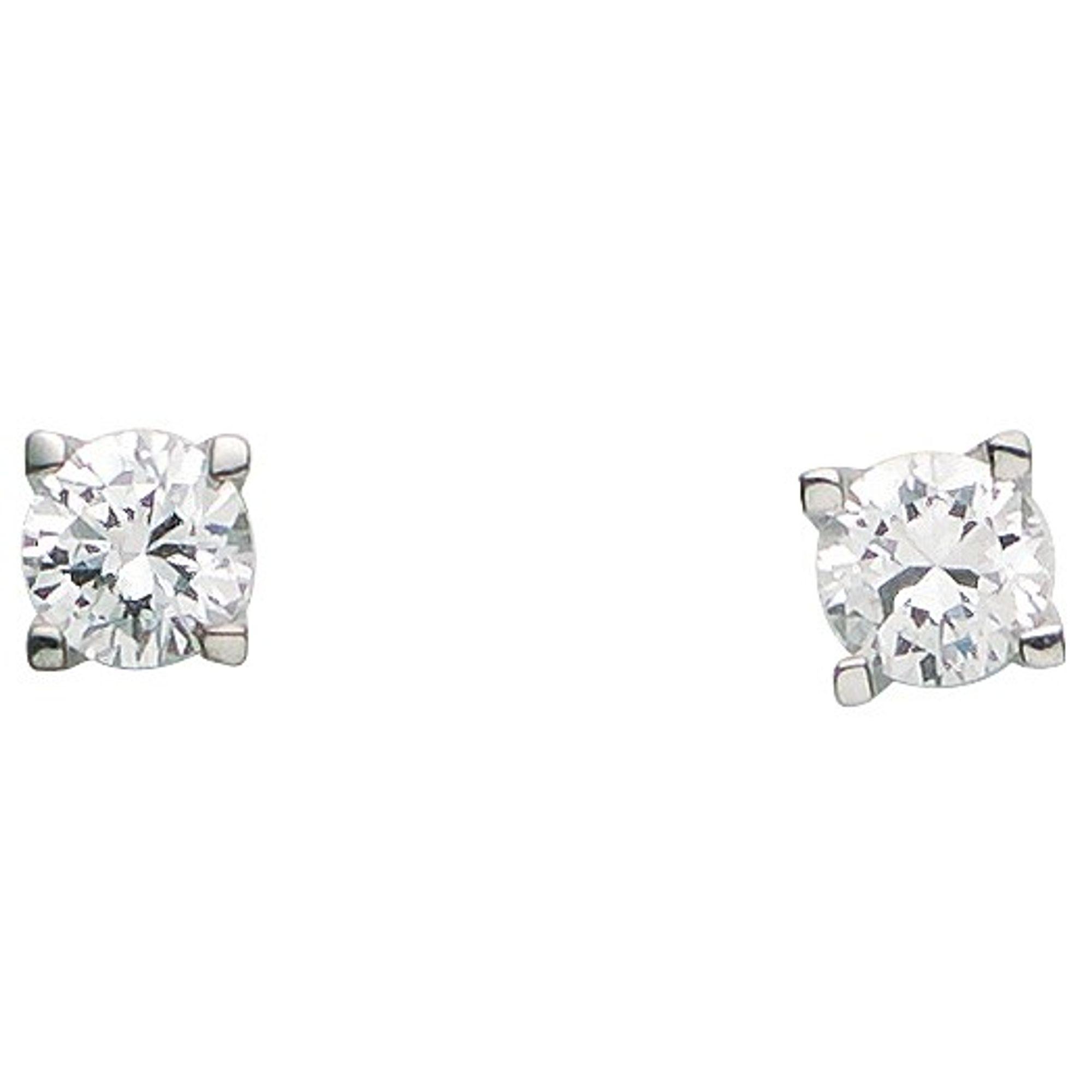 Basic Silber 01.2318 Damen Ohrstecker Silber Zirkonia weiß