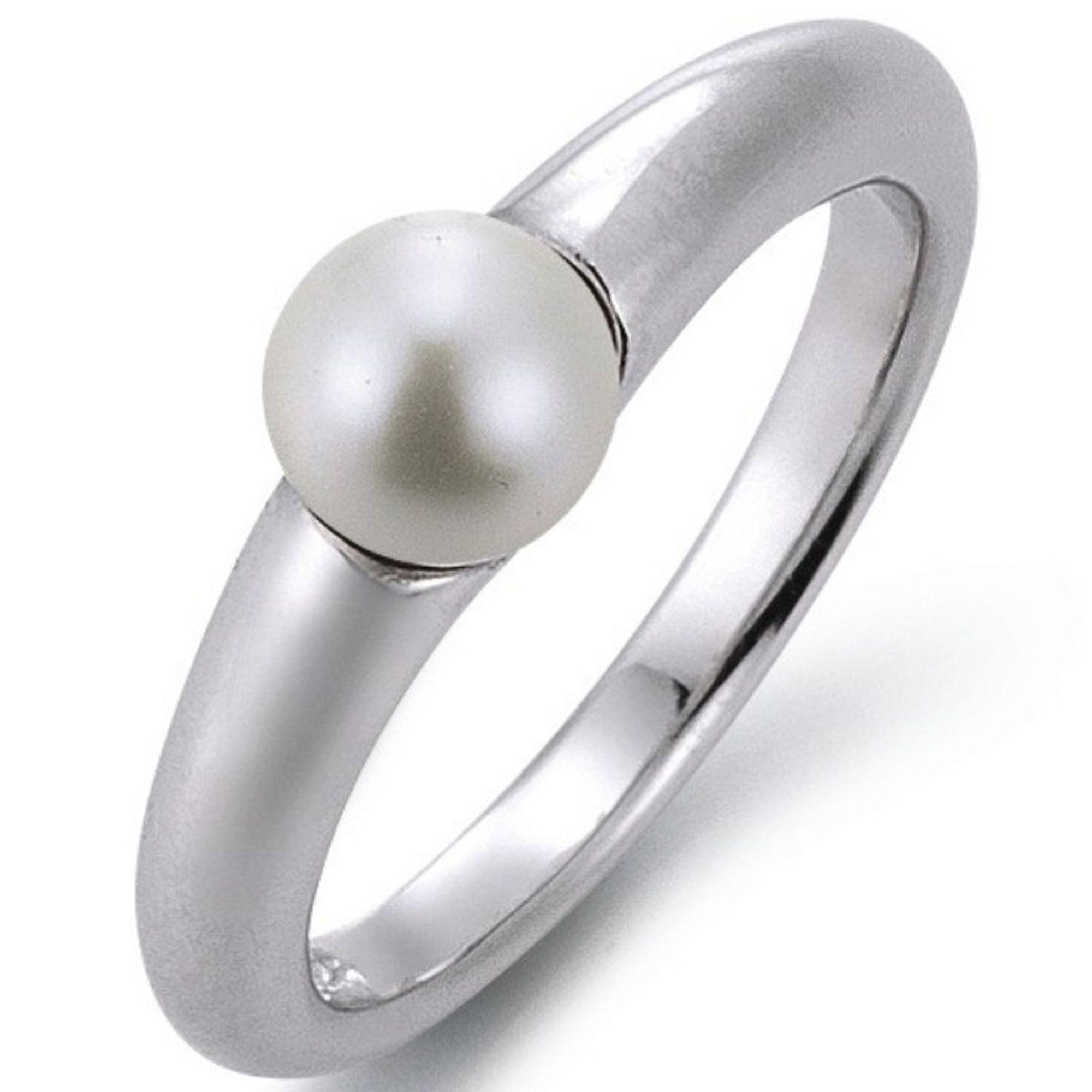 GOOIX Classic 943-3143-067-540 Ring Silber Weiß 54 (17.2)