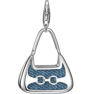 Esprit ESZZ-90680.A Charms Tasche Charm Silber denim shopper XL
