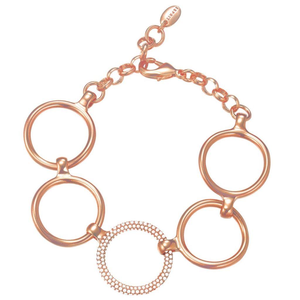 Esprit Damen Armband esprit-jw50059 Rose Metall Zirkonia 20 cm