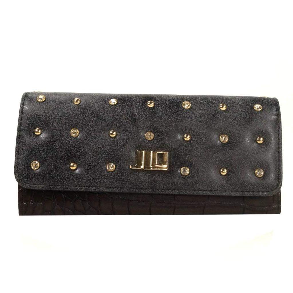 J.LO Geldbörse Brill Schwarz Braun 433NE 92 Geldbeutel Geldtasche