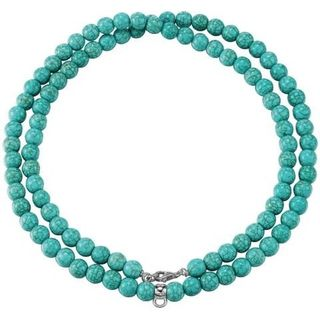 Esprit ESNL-91755.B Charm Damen Charms Collier Silber Turquoise necklace mit synth. Türkis