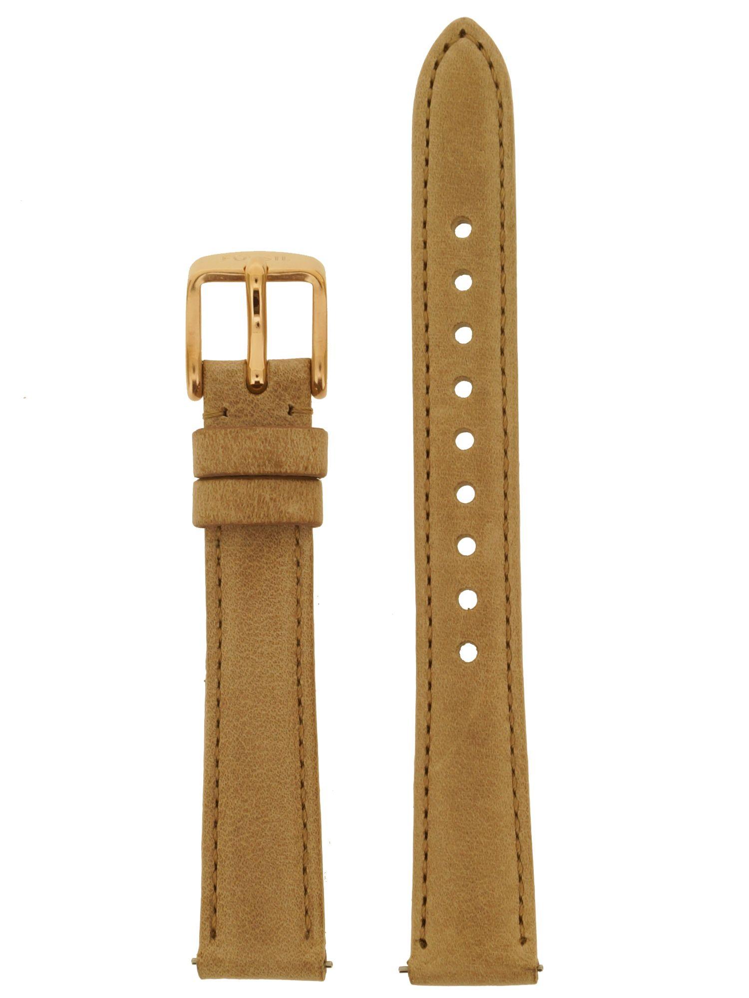 Fossil Uhrenarmband LB-ES3487 Original Ersatzband Leder 14 mm Beige