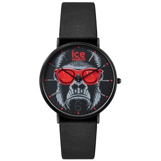 Ice-Watch ICE chinese Black Red Uhr Herrenuhr Lederarmband schwarz – Bild 1