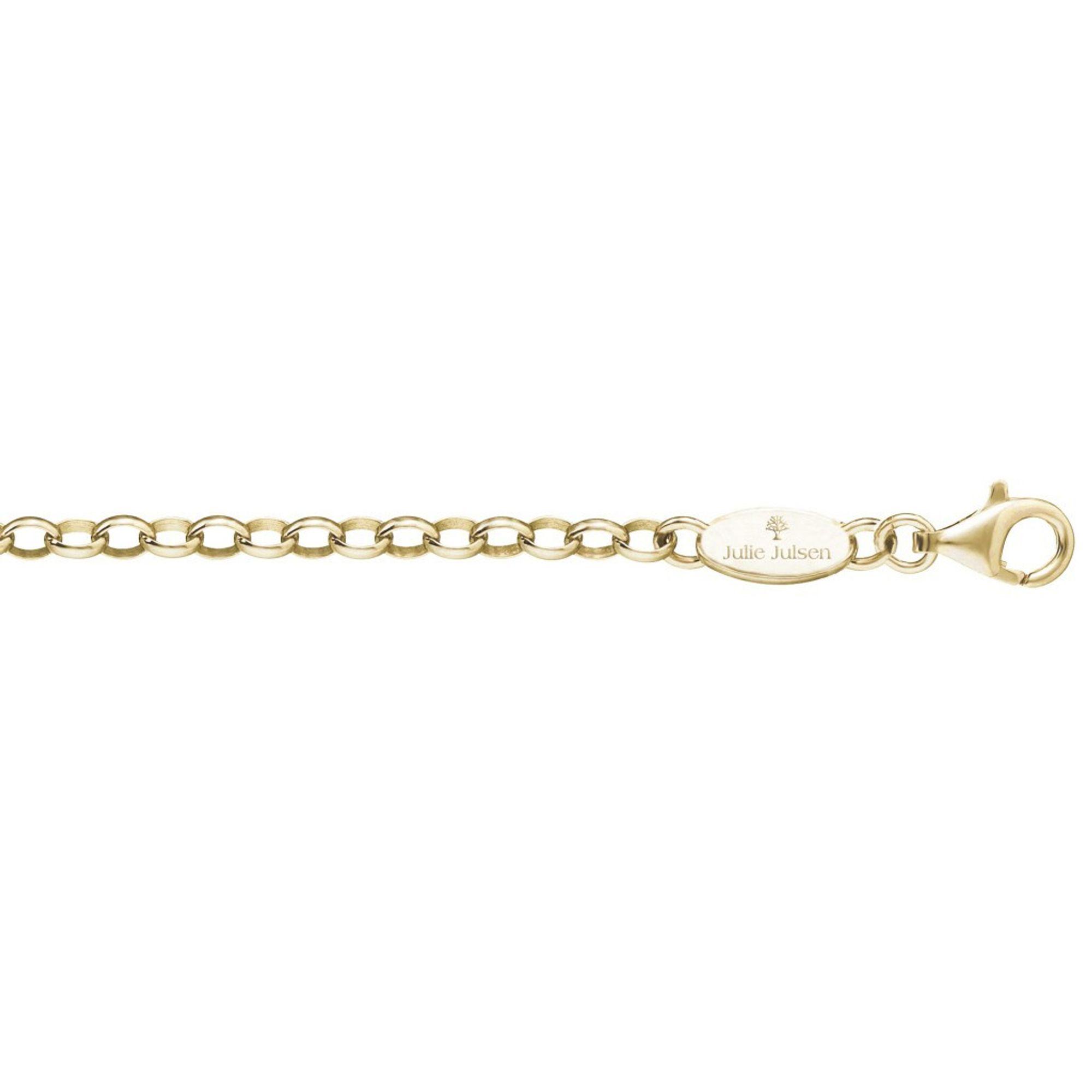 Julie Julsen® JJC042YG Damen Kette Silber gold 42 cm