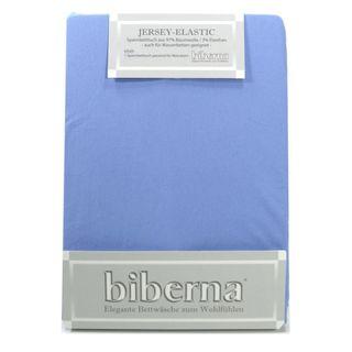 Biberna Jersey Elastic Spannbetttuch Mittelblau 120 x 200 - 130 x 220 Biberna Jersey Elastic Spannbetttuch Mittelblau 120 x 200 - 130 x 220