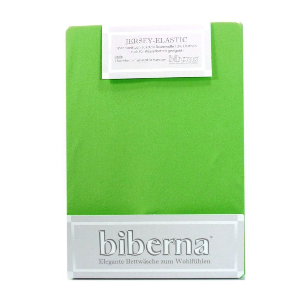 Biberna Jersey Elastic Spannbetttuch Hellgrün 120 x 200 - 130 x 220 Biberna Jersey Elastic Spannbetttuch Hellgrün 120 x 200 - 130 x 220