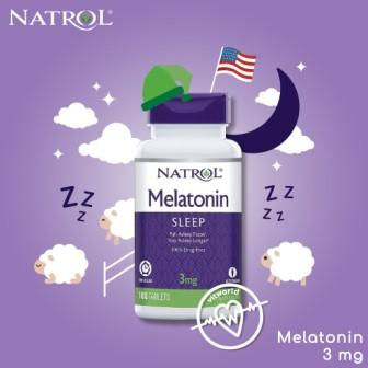 Natrol Melatonin Time Release 100 Tabletten á 3mg