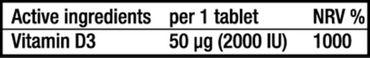 60 Vitamin D3 Kapseln a´ 2000 I.U. von BioTech USA