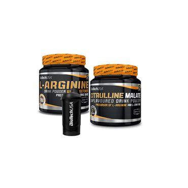 Arginine 300g + Citrulline 300g Pack + Shaker