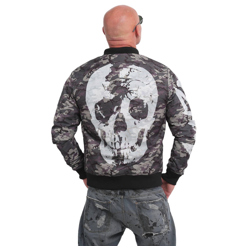 Stealth Skull Bomber Jacket