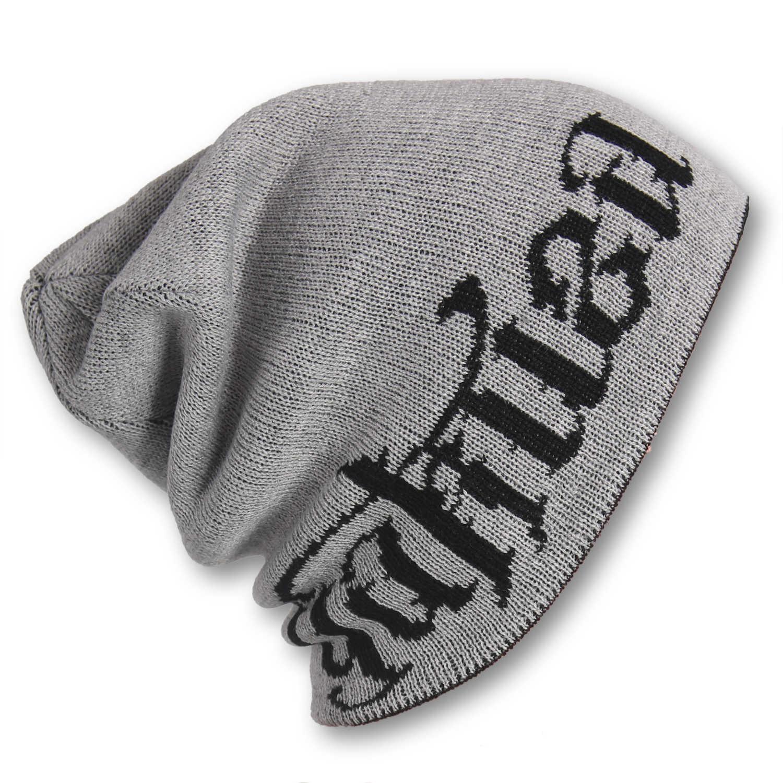 Yakuza, Branding Reversible Knit Beanie, YB15301 GRYBLK ONE