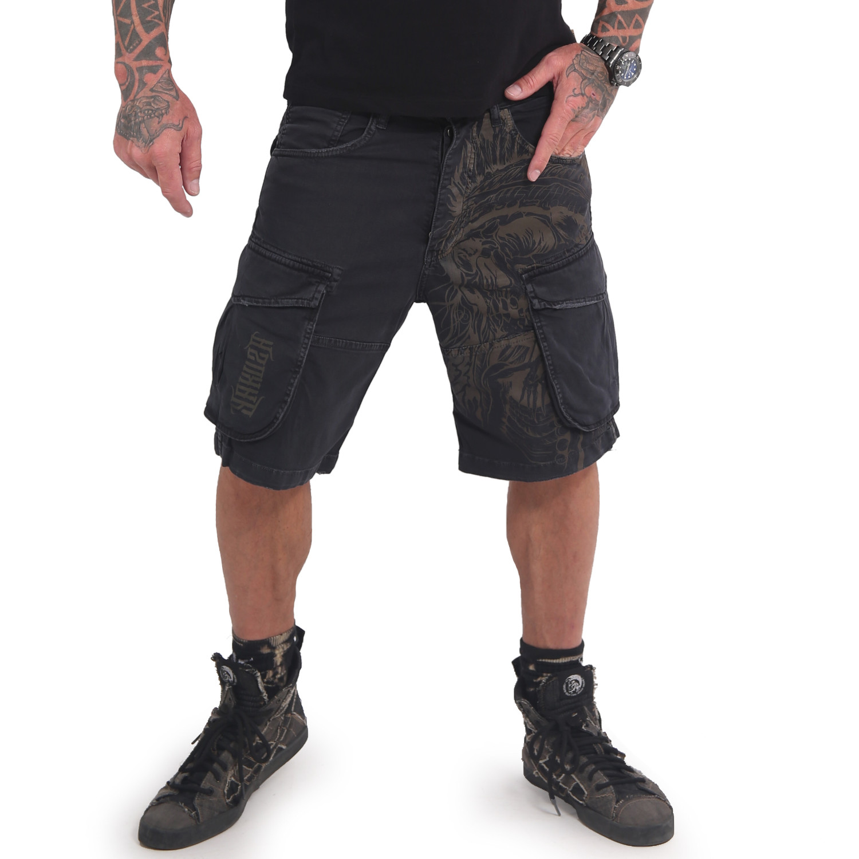 Indian Skull Cargo Shorts