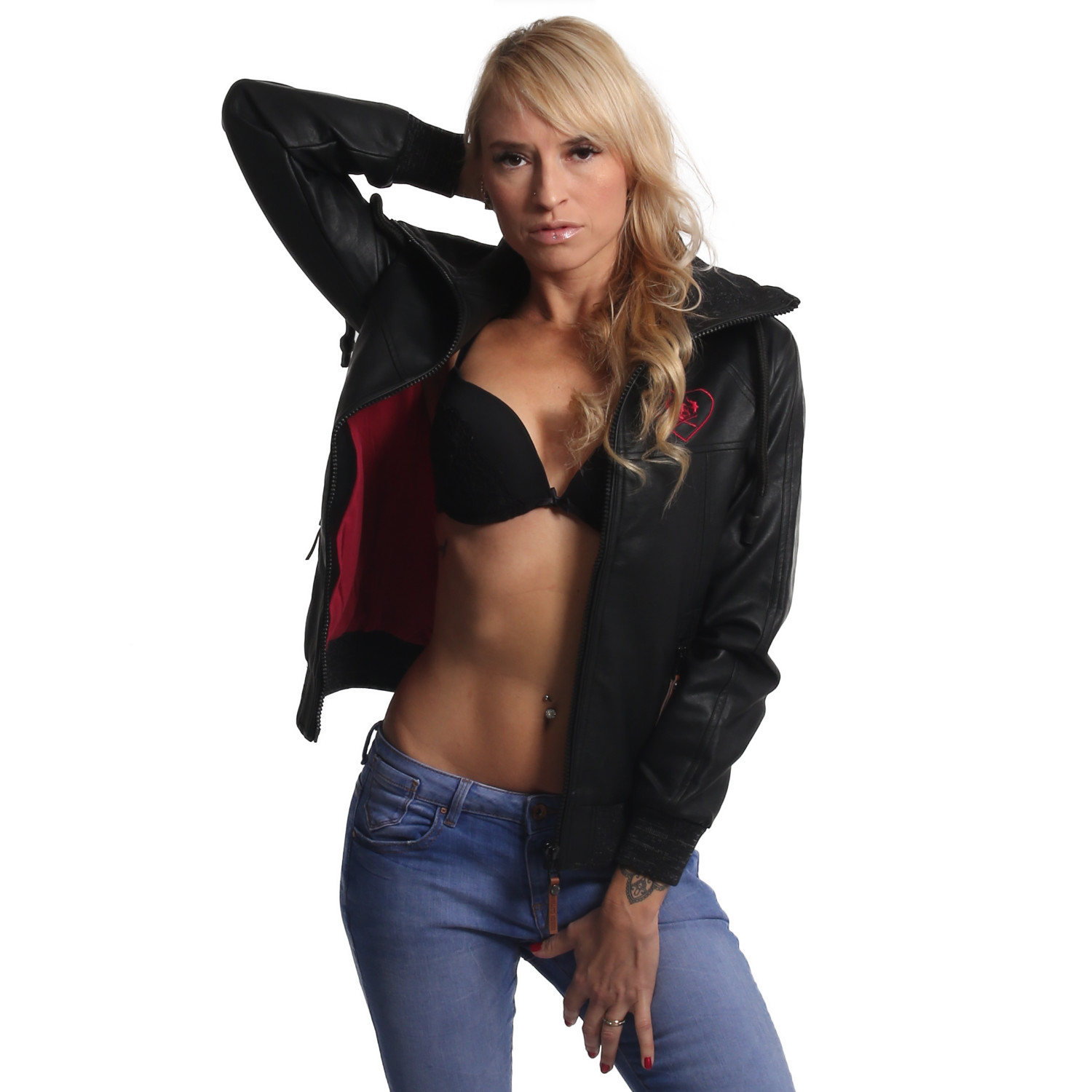 Fibre Faux Leather Jacket