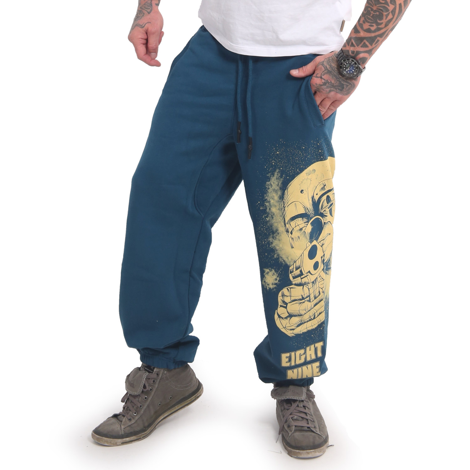Yakuza, Hating Clown Loose Jogger, JOB17049 MALBLU XL