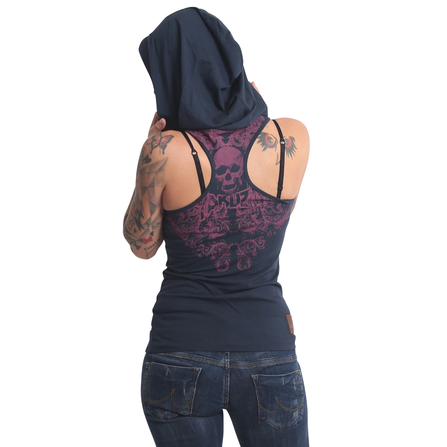 Dark Tribe Hooded Tank Shirt