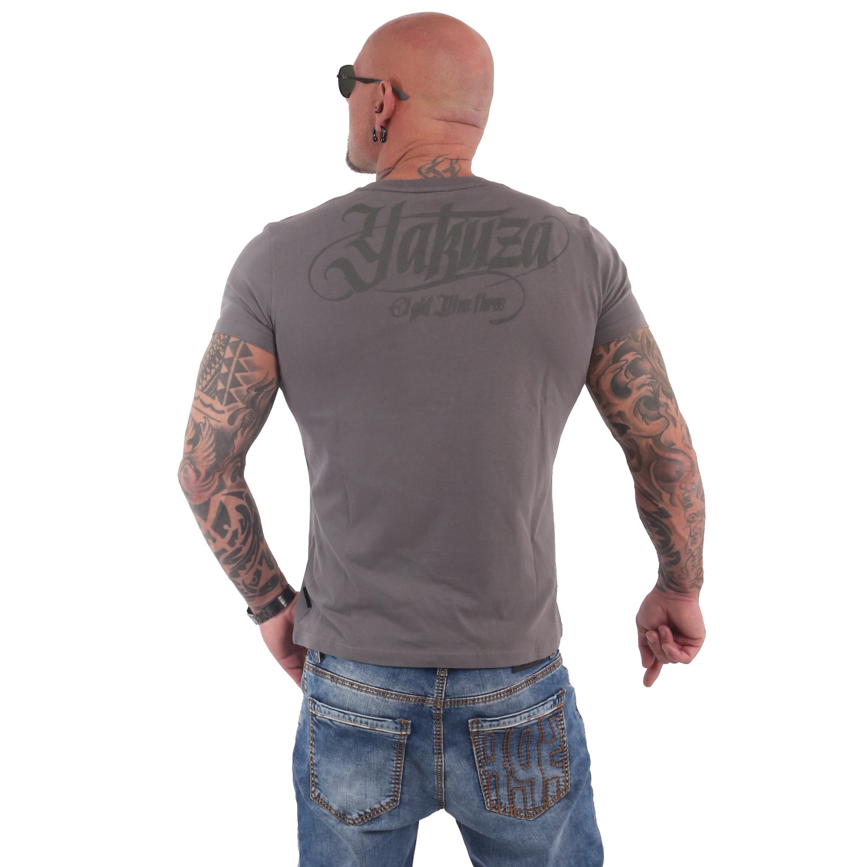 Yakuza, Basic Line FMP Crew Neck T-Shirt, TSB17076 BTSGRY XL