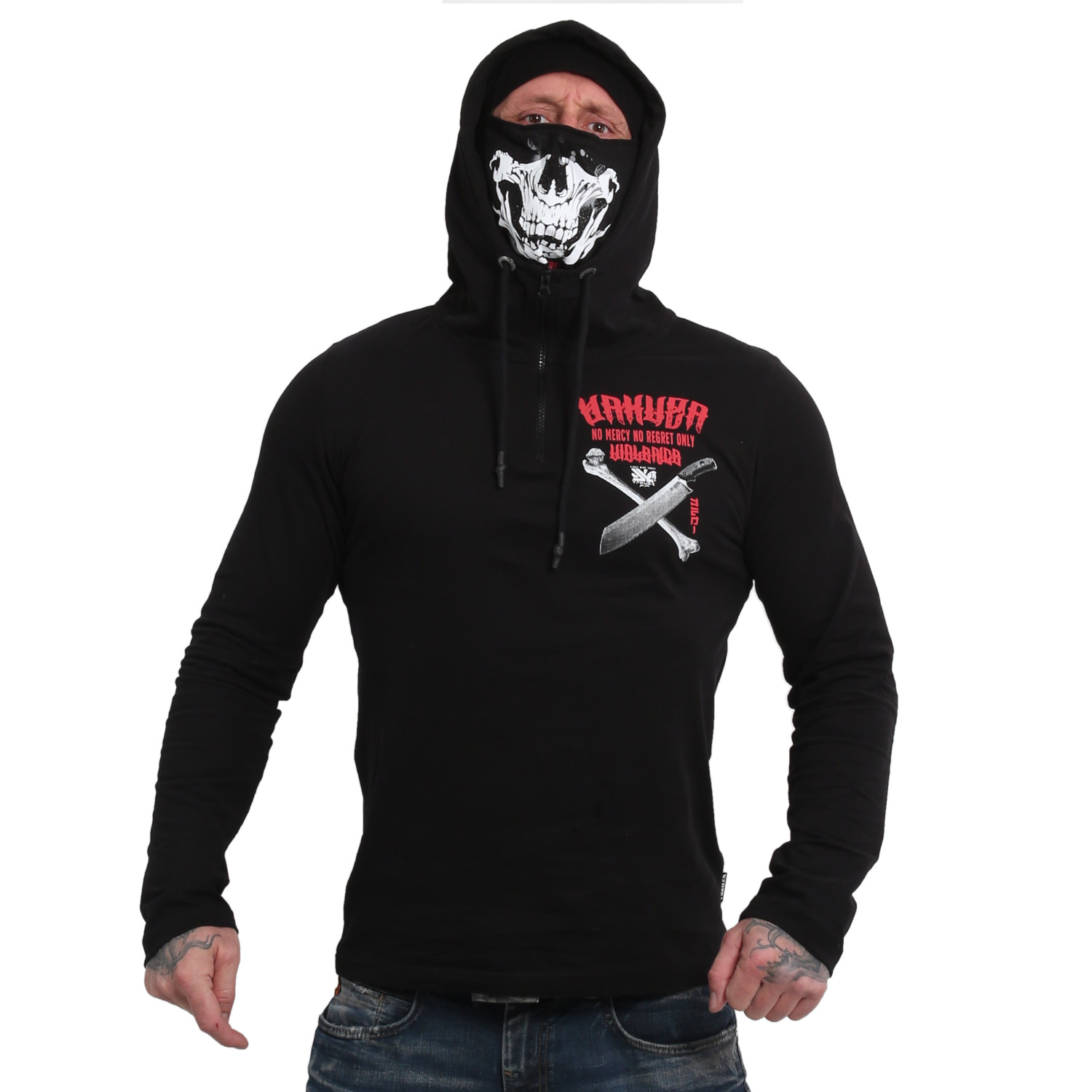 No Mercy No Regret Hooded Ninja Longsleeve