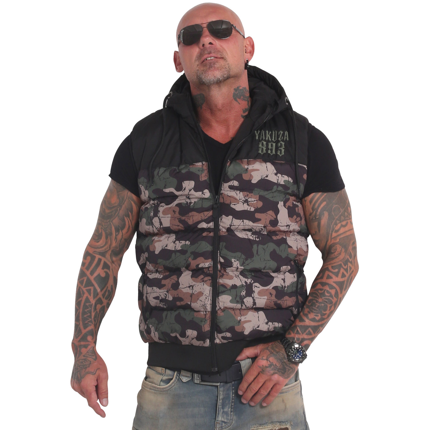 Fck Society Quilted Hooded Vest