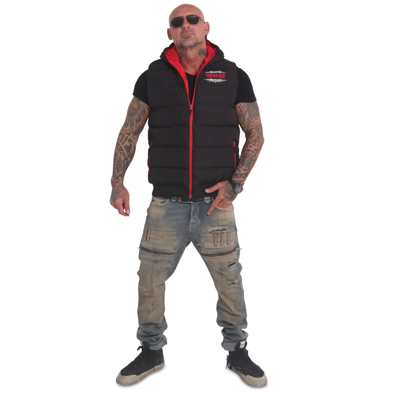 Felt Logo V02 Quilted Hooded Vest