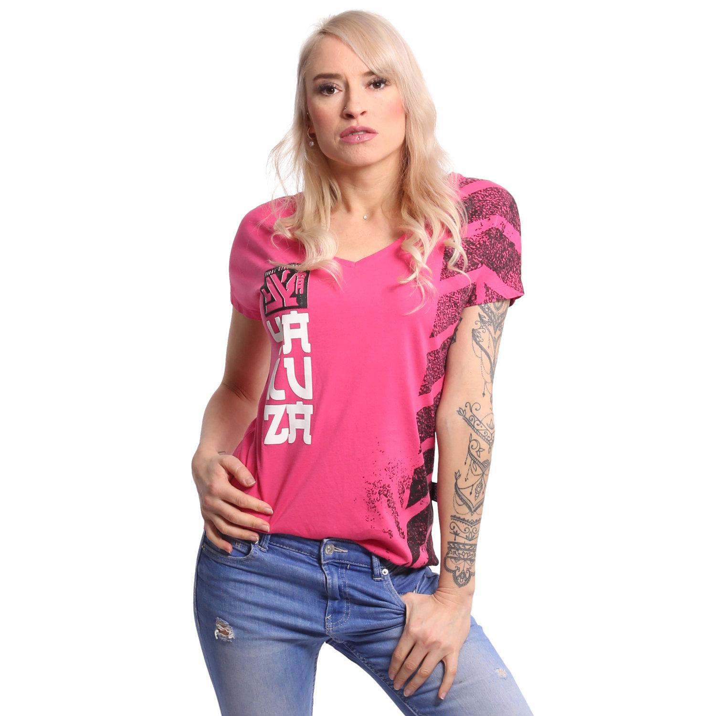 Lighting Skull Dye V Neck T-Shirt