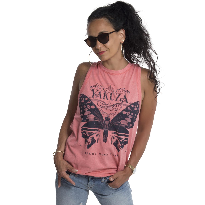 Yakuza, Dead Butterfly Tank Shirt, GSB18162 TEAROSMEL XS