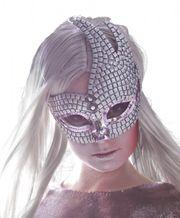 Venezianische Maske mit Glitzer – Venedig Maske Damen