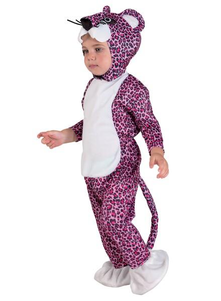 Baby Kostüm Leopard lila, Kleinkinderkostüm Leopard