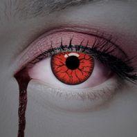 Blut Kontaktlinsen rot mit schwarzem Adern, Farblinsen – Bild 3