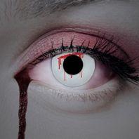 Blut Kontaktlinsen weiß & rot, Halloween & Horrorlinsen – Bild 3