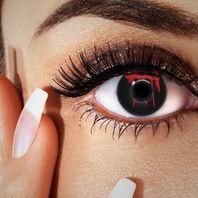 Blut Kontaktlinsen schwarz & rot, Halloween Farblinsen