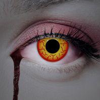 Farblinsen gelb-rot: Hexen, Magier & Manga Party-Linsen – Bild 3