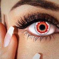 Halloween Kontaktlinsen rot-orange, Farblinsen blutig