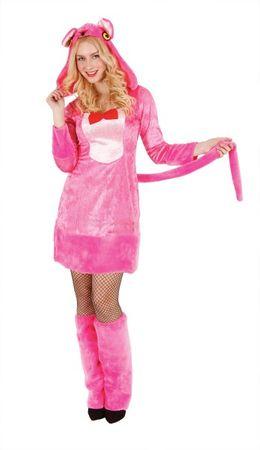 Pink Panther Kostüm Damen, rosa Panther Karnevalskostüm