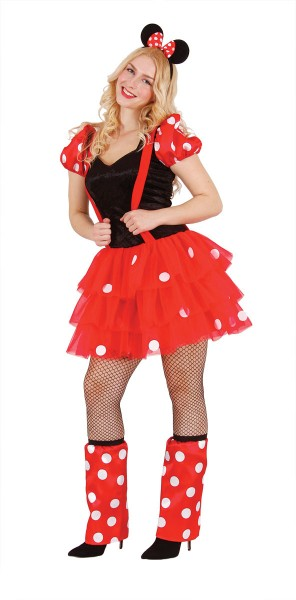 Minnie Mouse Kostüm Damen, Karnevalskostüm Minnie Maus