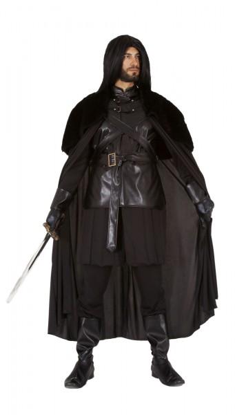Schwarzer Ritter Kostüm für Game of Thrones Cosplay