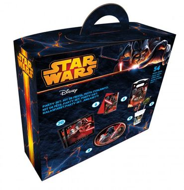 Partyartikel Kindergeburtstag Star Wars: Partybox 54 tlg.