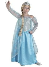 Kinderkostüm Eiskönigin, Frozen Kostüm Elsa für Kinder – Bild 4