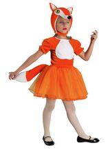 Fuchsmädchen Kostüm, Kinderkostüm Füchsin, Tierkostüm