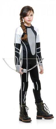 Katniss Kostüm Mädchen, Kinderkostüm Tribute von Panem