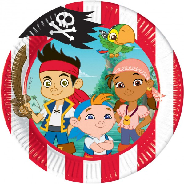 Partyteller 20cm Jack and the Neverland Piraten