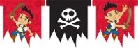 Partyflaggenbanner Jack and the Neverland Piraten