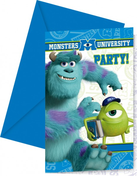 Partyeinladungskarten Monsters University