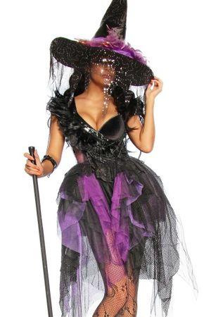 Premium Hexenkostüm Halloweenkostüm