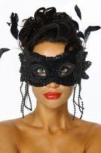 Sexy Augenmaske Federmaske