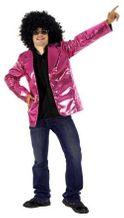 Paillettenoptikblazer pink Glitzerblazer Discoblazer