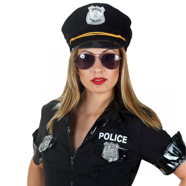 Polizist Partybrille Police-Brille